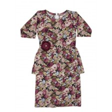Iris Peplum Floral Brown BP08