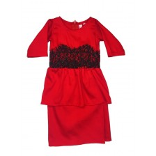 Iris Peplum Red BP11