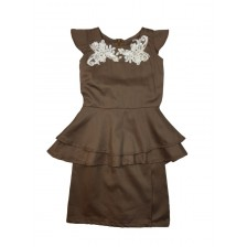 Dahlia Peplum Brown BPS01